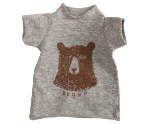 Mega kaniner - T-shirt med bjørneprint (grå)