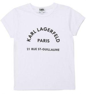Karl Lagerfeld T-shirt - Rue St-Guillaume - Hvid