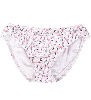 Petit Crabe Bikinitrusser - Zoe - UV50+ - Hvid m. Flamingo