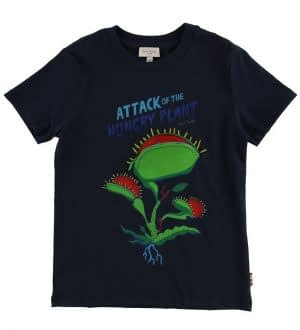 Paul Smith Junior T-shirt - Tyson - Navy m. Kødædende Plante