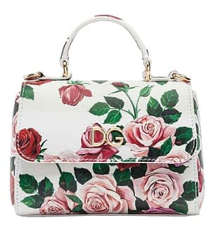 Dolce & Gabbana Skuldertaske - Hvid m. Blomster