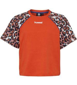 Hummel Teens T-shirt - HMLKatrine - Orange m. Leo
