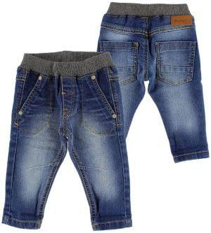 Minymo Jeans - Blå Denim m. Koksgrå Rib