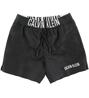 Calvin Klein Badeshorts - Medium Waistband - Sort