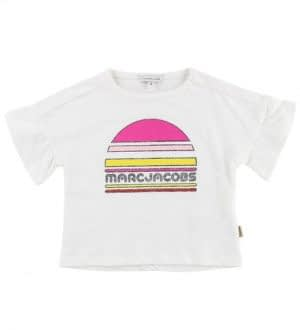 Little Marc Jacobs T-shirt - Hvid m. Print/Glimmer