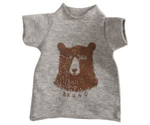 Maxi kaniner - T-shirt med bjørneprint (grå)