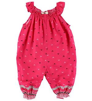 Armani Baby Buksedragt - Pink m. Logoer