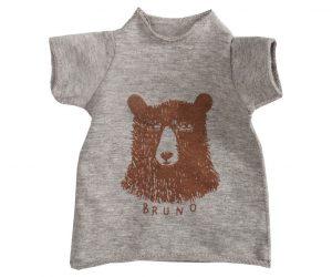 Medium kaniner - T-shirt med bjørneprint (grå)