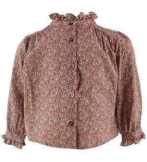 Bonton Skjorte - Orange/Rosa m. Blomster