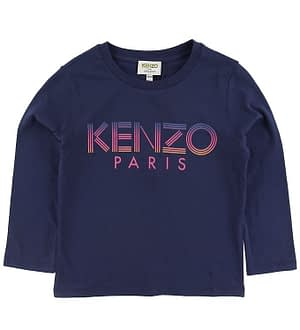 Kenzo Bluse - Logo JG 1 - Navy m. Print