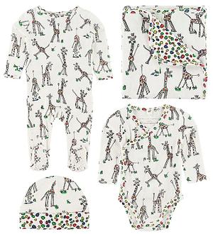 Stella McCartney Kids Gaveæske - 4 dele - Hvid m. Giraf