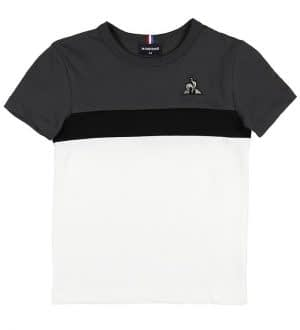 Le Coq Sportif T-shirt - Enfant - Hvid/Koksgrå
