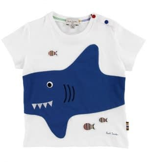 Paul Smith Baby T-shirt - Tiki - Hvid m. Haj