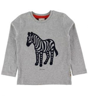 Paul Smith Junior Bluse - Vazo - Gråmeleret m. Zebra