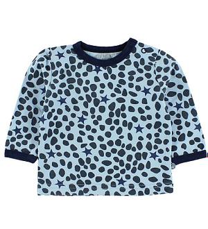 Minymo Bluse - Lyseblå m. Leopard Prikker