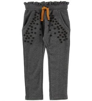 Small Rags Sweatpants - Gråmeleret m. Prikker