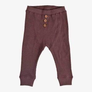 PAPFAR Bukser i bomuldsrib - Chestnut - 2 år