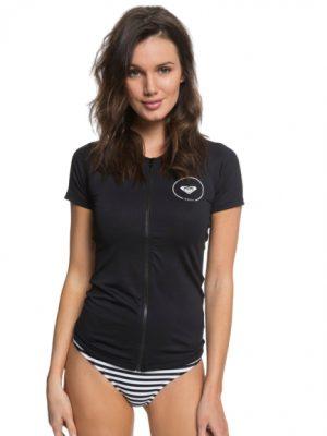 Roxy Short Sleeve UPF 50 Zip-Up Rash Vest VOKSEN
