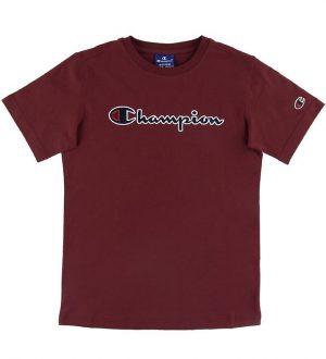 Champion T-shirt - Bordeaux m. Logo