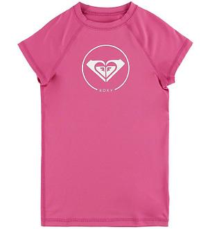 Roxy Badebluse - UV50+ - Pink m. Logo