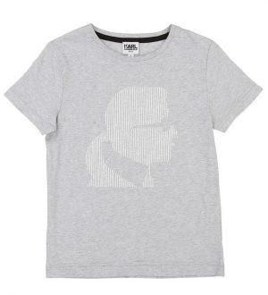 Karl Lagerfeld T-shirt - Gråmeleret m. Silhouet