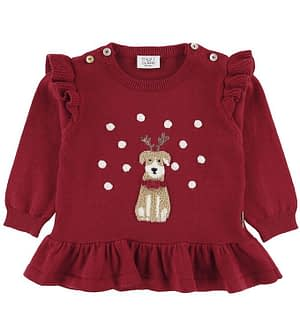 Hust and Claire X-Mas Bluse - Strik - Perle - Rio Red
