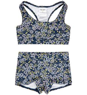 The New Bikini - UV50+ - Porina - Navy m. Blomster