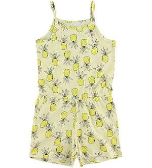 Name It Buksedragt - Vigga - Limelight m. Ananas