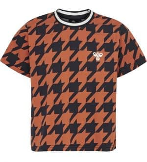 Hummel Teens T-shirt - HMLChick - Navy/Orange m. Tern