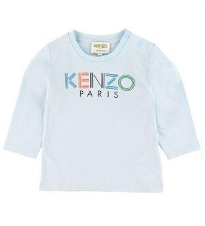 Kenzo Bluse - Lyseblå m. Logo