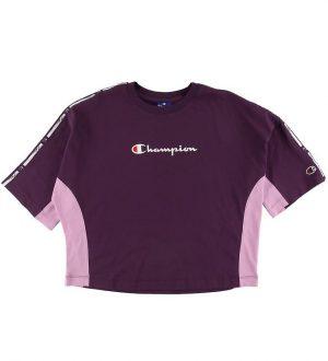 Champion Fashion T-shirt - Crop - Lilla m. Logo