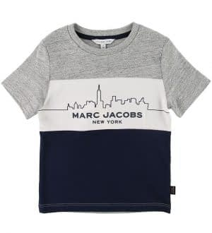 Little Marc Jacobs T-shirt - Gråmeleret/Navy m. Skyline