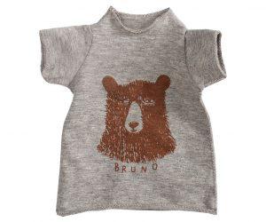 Mega Maxi kaniner - T-shirt med bjørneprint (grå)