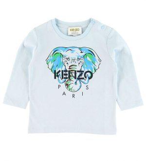 Kenzo Bluse - Kit - Lyseblå m. Elefant