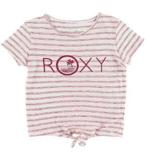 Roxy T-shirt - Some Love - Hvid/Rødstribet