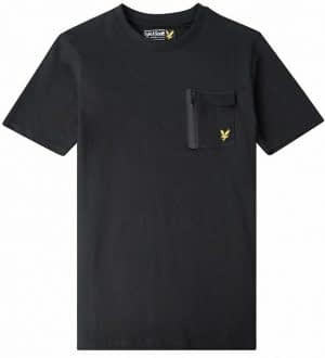 Lyle & Scott T-shirt - Sort m. Lomme