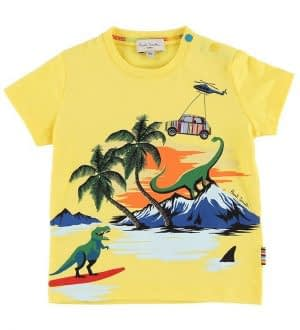 Paul Smith Baby T-shirt - Tim - Gul m. Print