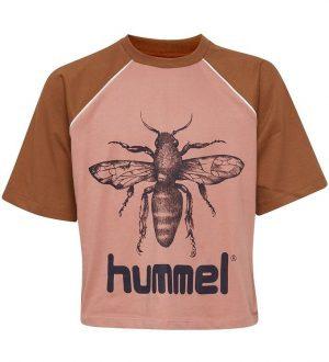 Hummel Teens T-shirt - HMLLanna - Brun/Rosa m. Insekt