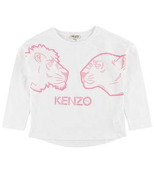 Kenzo Bluse - Gina - Hvid m. Løver
