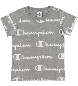 Champion T-shirt - Grå m. Allover Logo