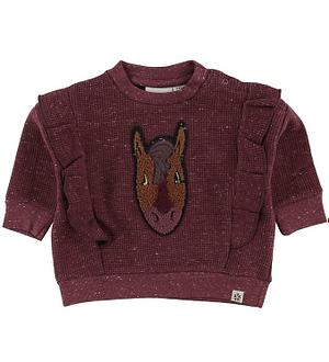 Papfar Bluse - Bordeaux m. Hest