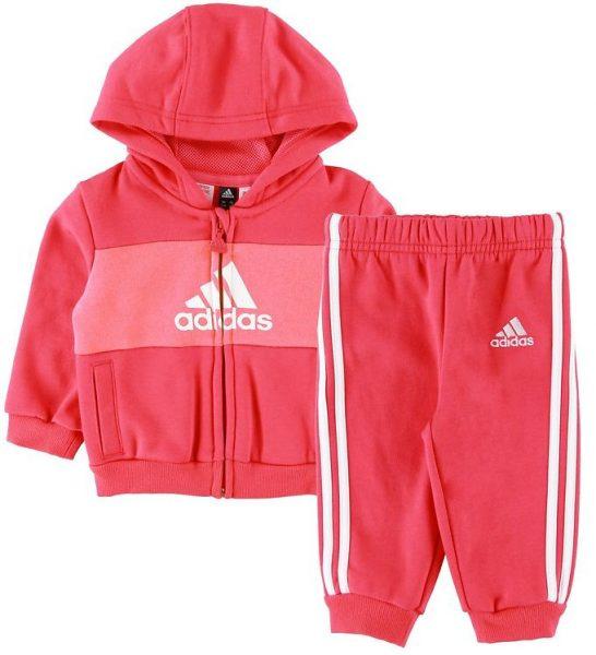 adidas Performance Sweatsæt - Real Pink/Hvid