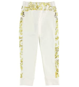 Young Versace Sweatpants - Creme m. Gult Mønster