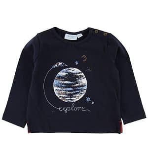 Noa Noa Miniature Bluse - Navy m. Jorden