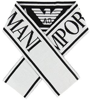 Emporio Armani Halstørklæde - Uld - Sort/Hvid