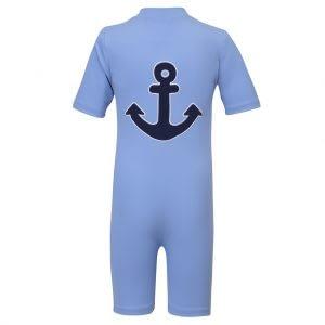 Petit Crabe UV-dragt m/korte ærmer, Noe Anchor - Dusty Blue