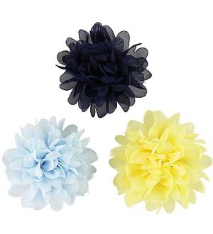 Creamie Hårspænder - Blomst - 3-pak - 7 cm - Popcorn