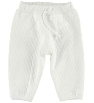 Joha Quiltet Bukser - Creme