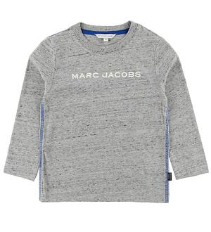 Little Marc Jacobs Bluse - Gråmeleret m. Logo