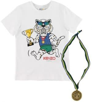 Kenzo T-shirt - Exclusive Edition - Hvid/Blå m. Medalje